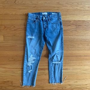 PACSUN 24 Girlfriend Distressed Rae Hem Jeans
